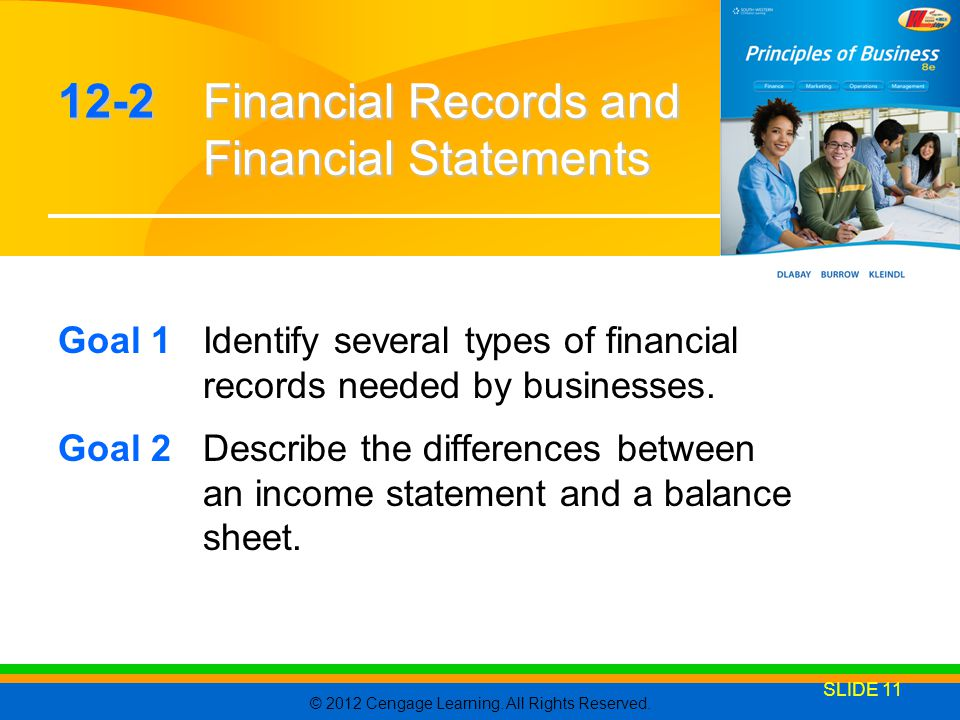 12-2 Financial Records and Financial Statements