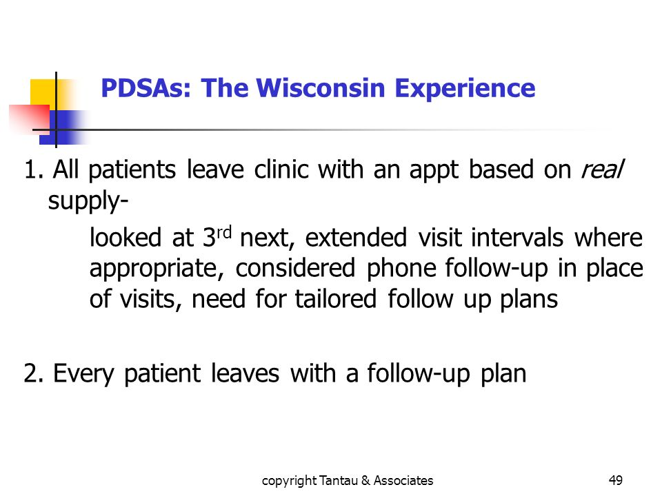 PDSAs: The Wisconsin Experience