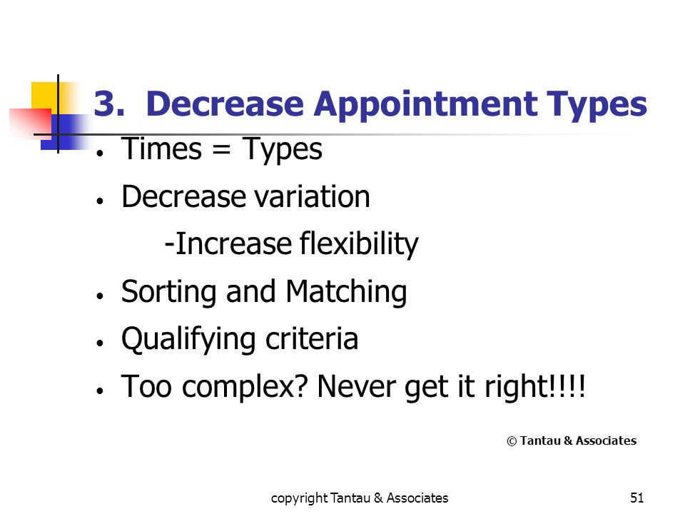 3. Decrease Appointment Types