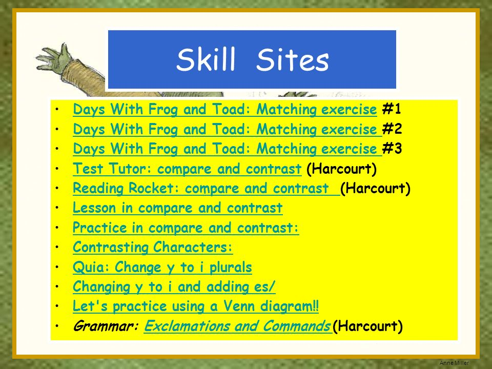 Skill Sites Days With Frog and Toad: Matching exercise #1