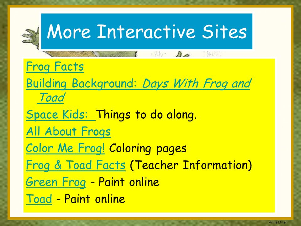 More Interactive Sites