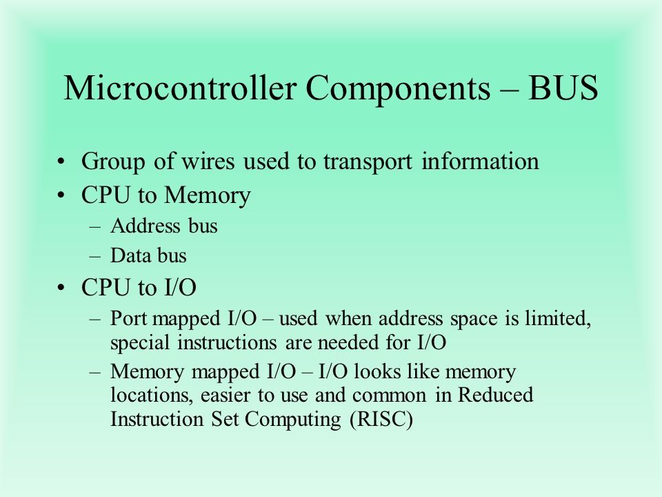Microcontroller Components – BUS