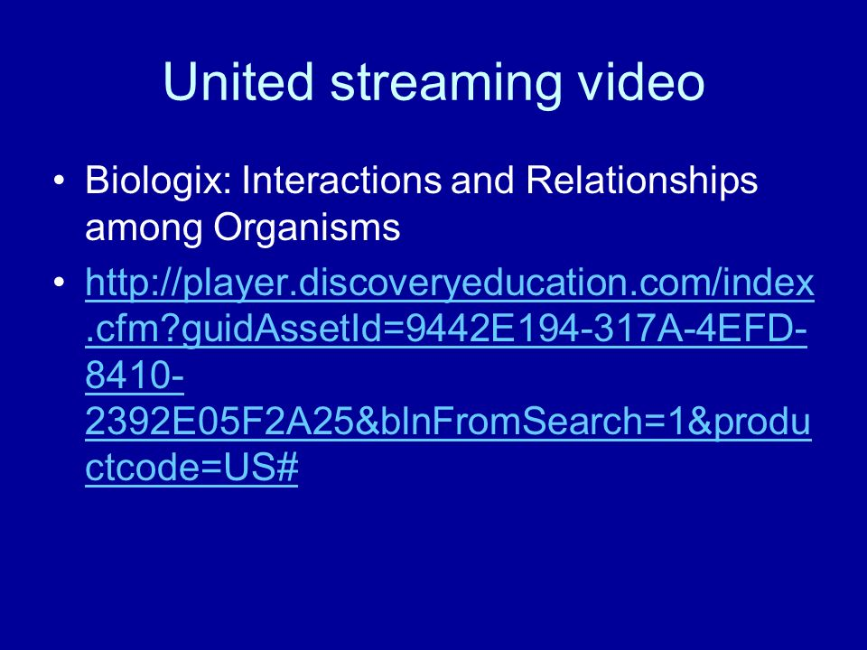 United streaming video