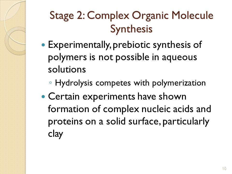 Stage 2: Complex Organic Molecule Synthesis