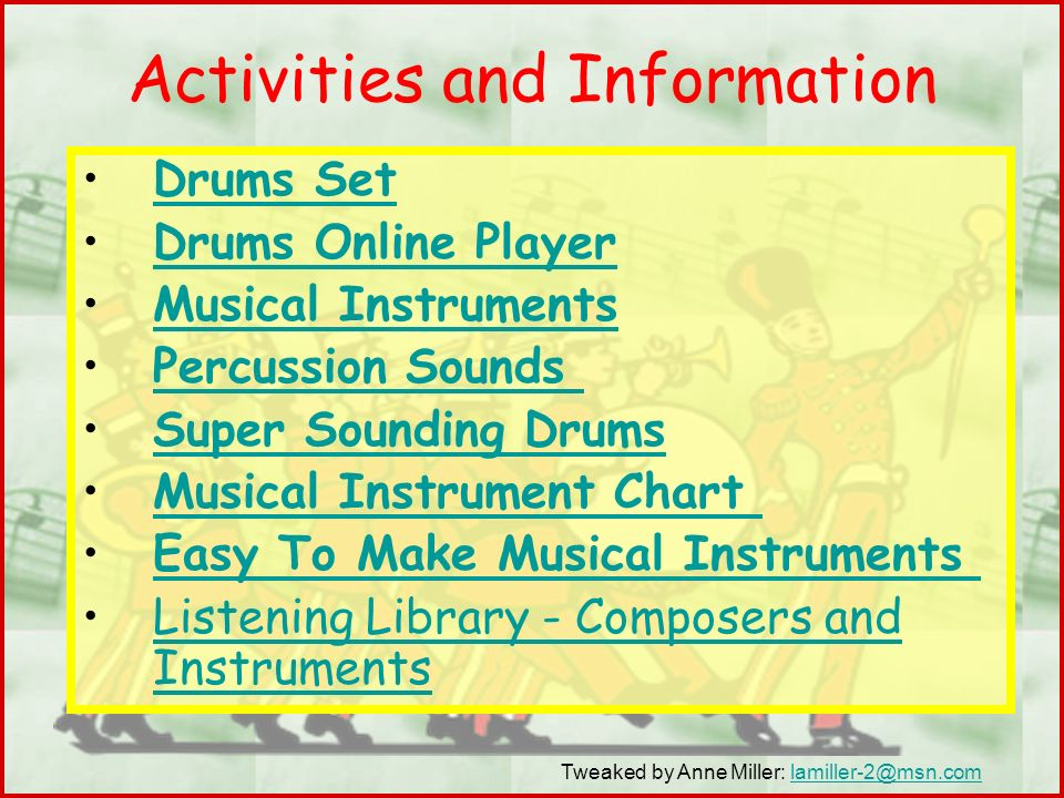 Activities and Information