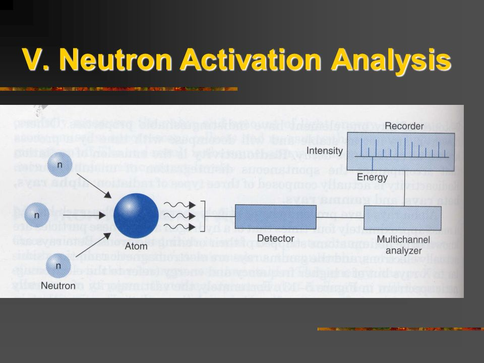 V. Neutron Activation Analysis