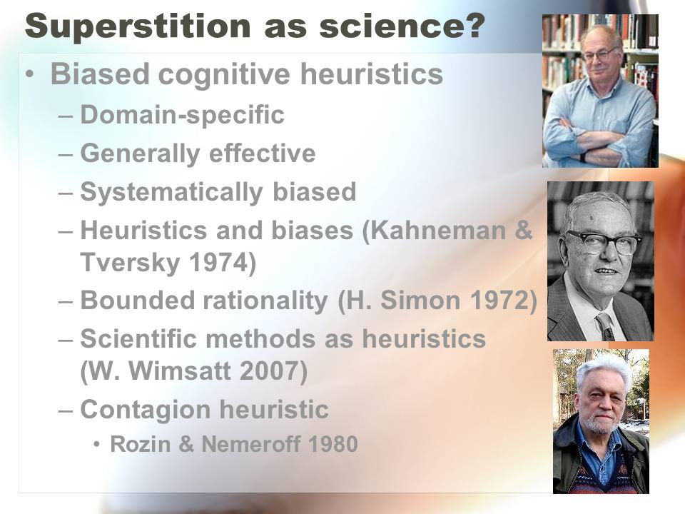 Superstition as science
