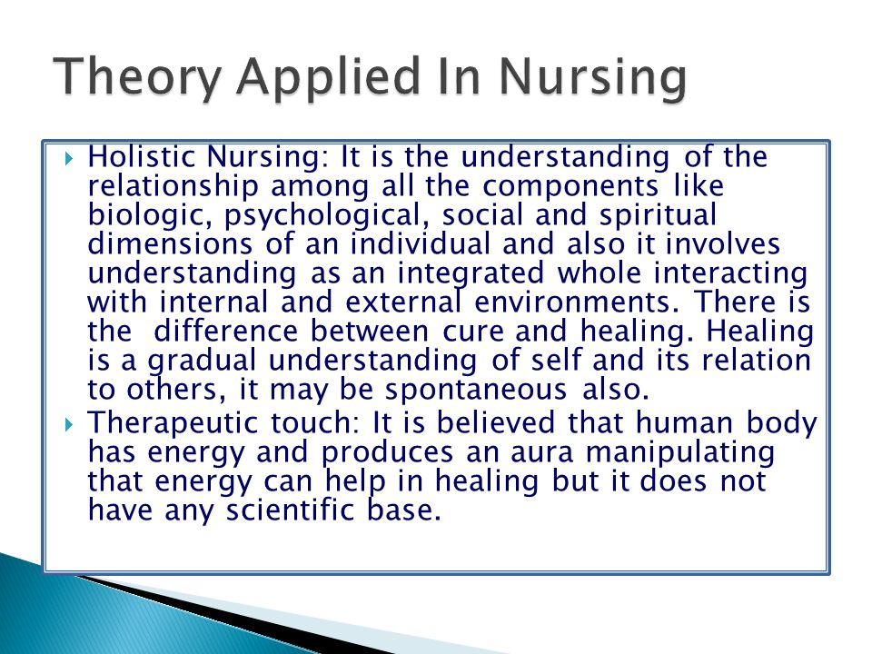 Theory Applied In Nursing