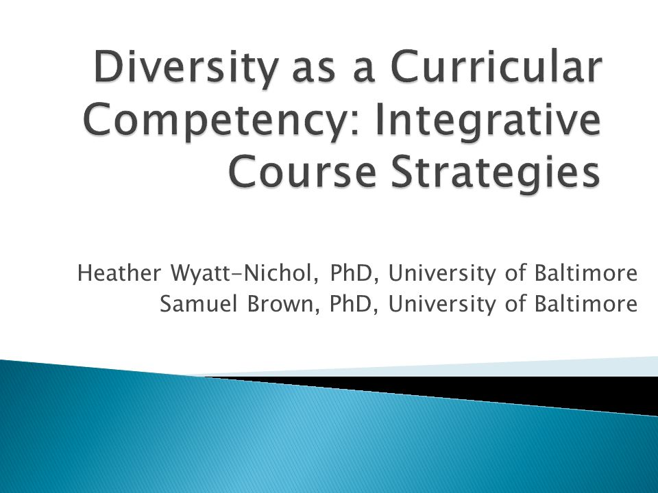 Diversity as a Curricular Competency: Integrative Course Strategies