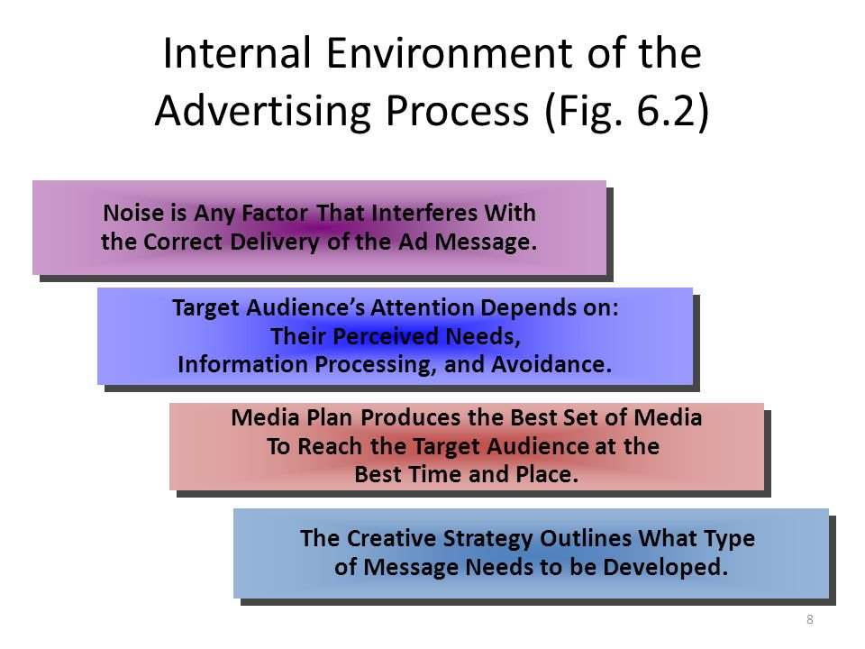Internal Environment of the Advertising Process (Fig. 6.2)