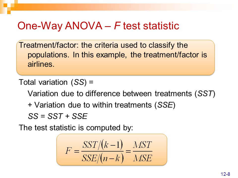 Analysis of Variance Chapter 12   McGraw-Hill/Irwin - ppt