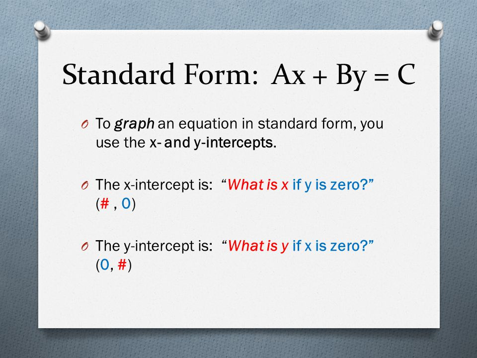 Graph Linear Systems Written In Standard Form Ppt Video Online
