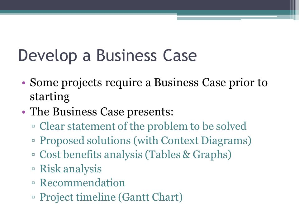 Develop a Business Case