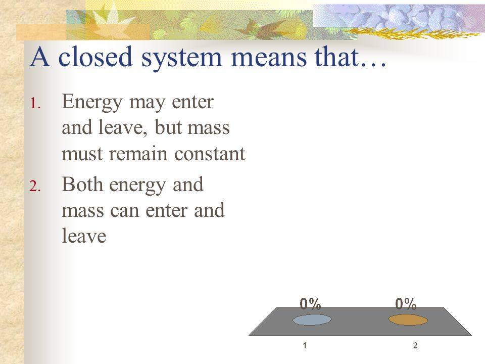 A closed system means that…