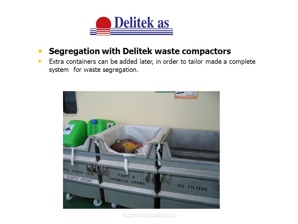 Segregation with Delitek waste compactors