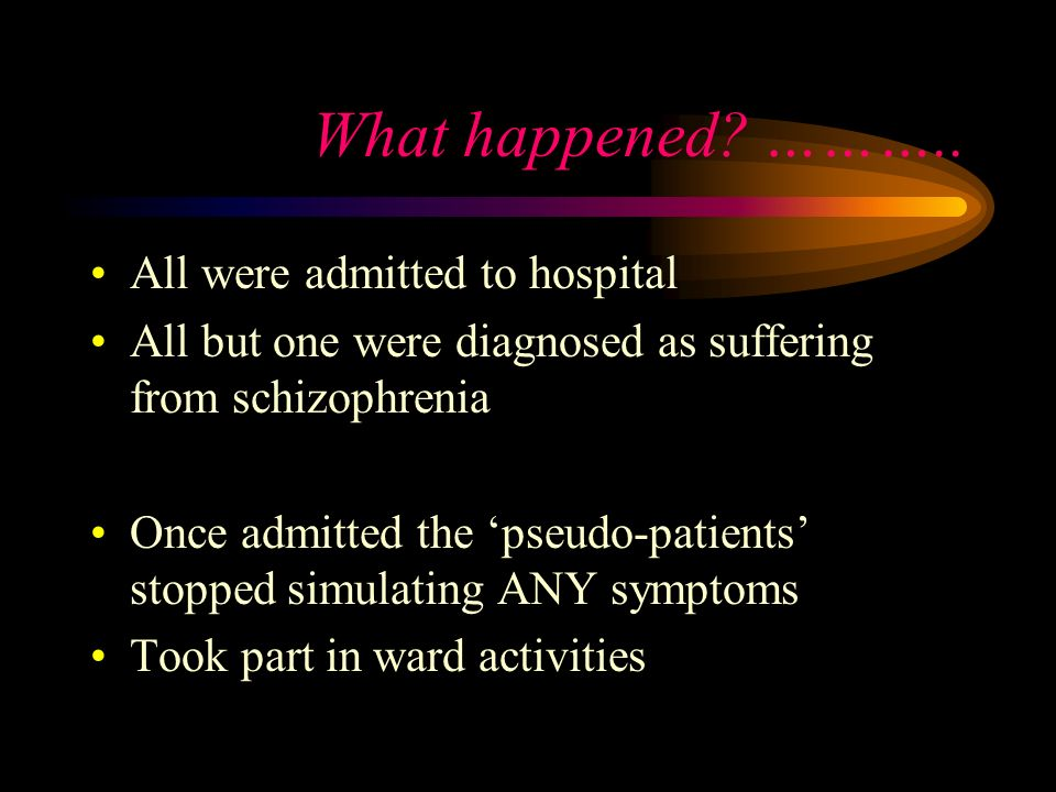 What happened ……….. All were admitted to hospital