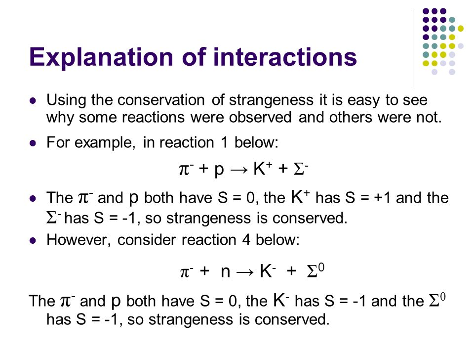 Explanation of interactions