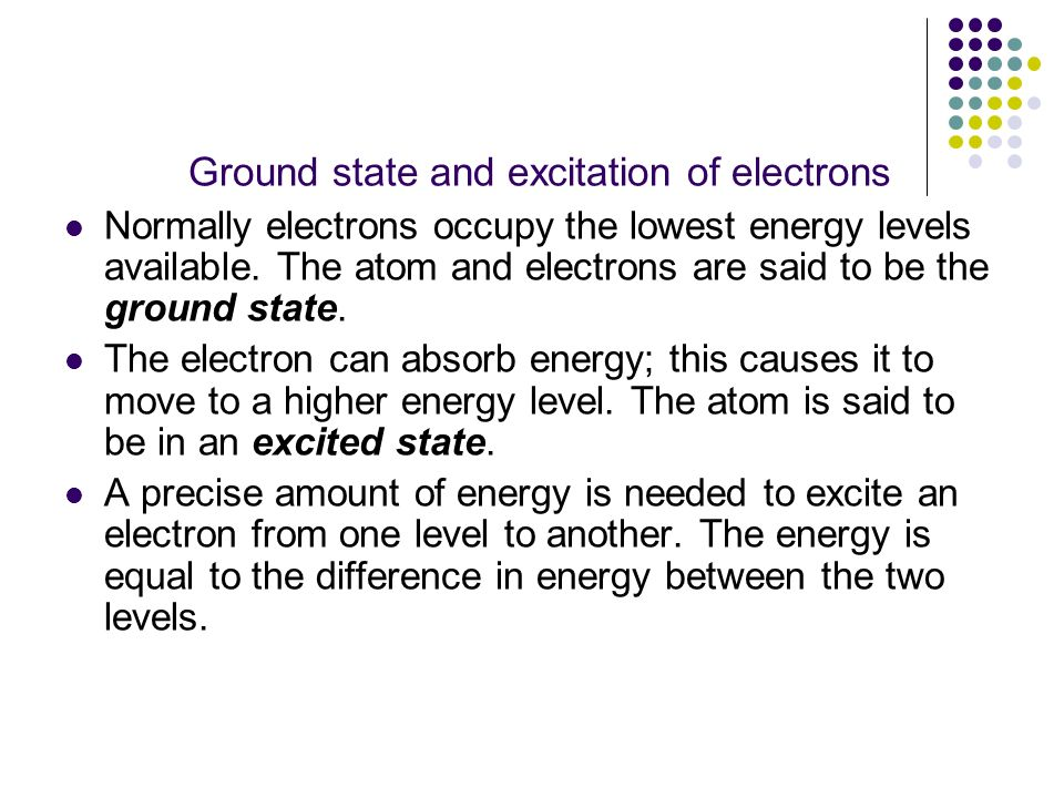 Ground state and excitation of electrons