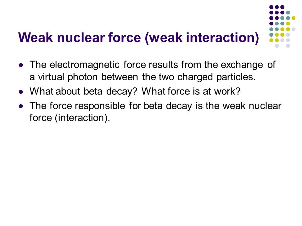 Weak nuclear force (weak interaction)