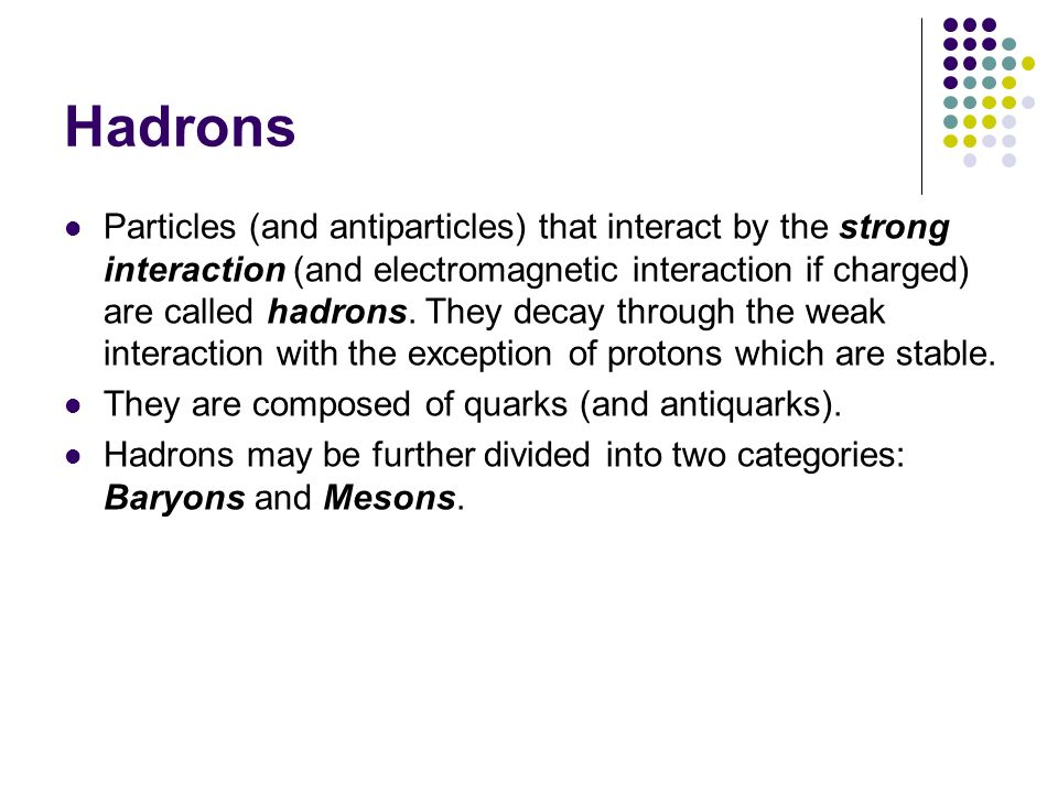 Hadrons
