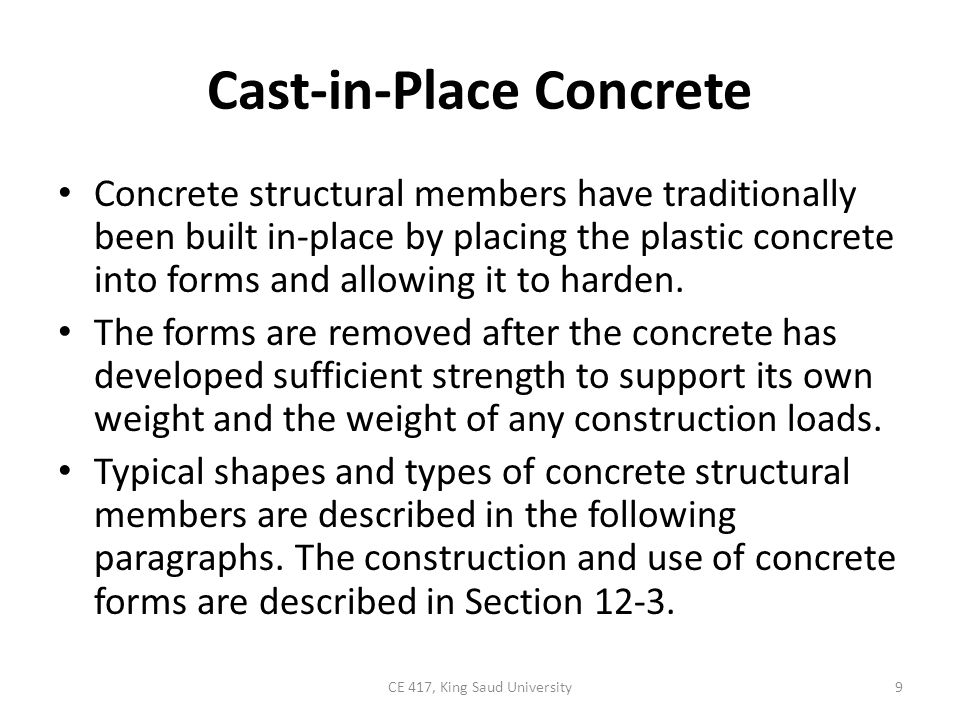 Cast-in-Place Concrete