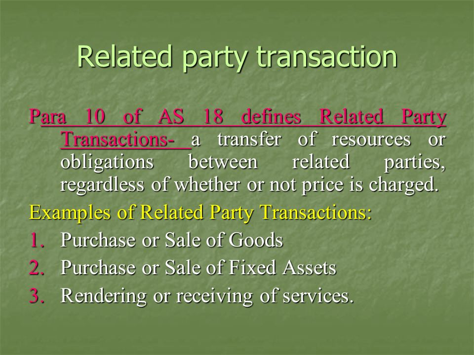Related party transaction
