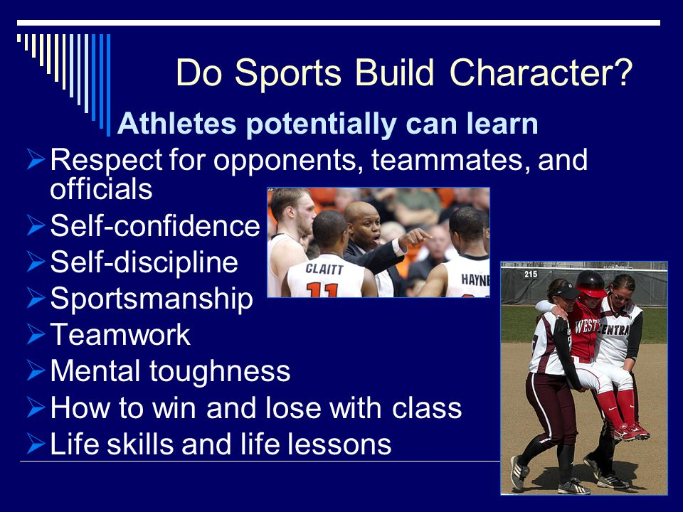 Do Sports Build Character