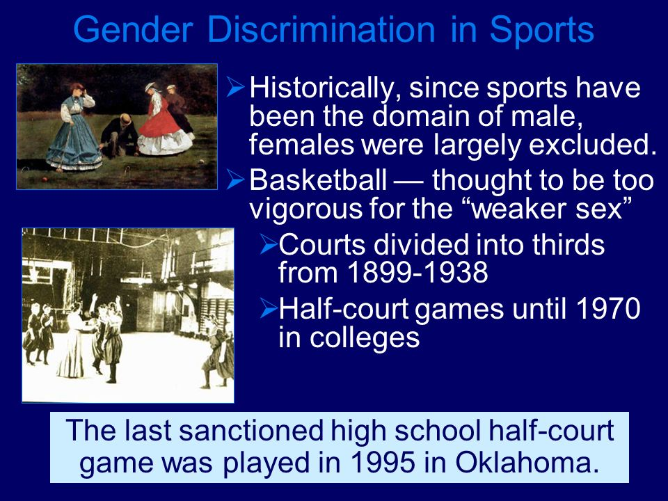 Gender Discrimination in Sports