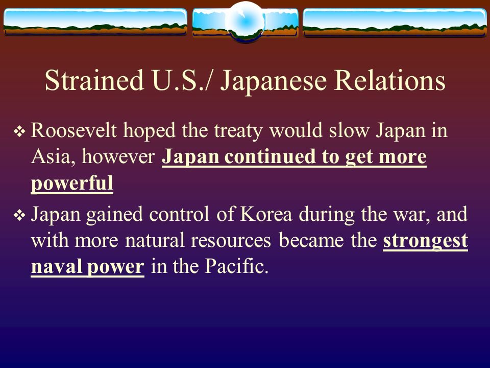 Strained U.S./ Japanese Relations