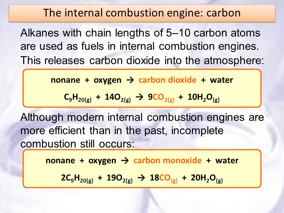 The internal combustion engine: carbon