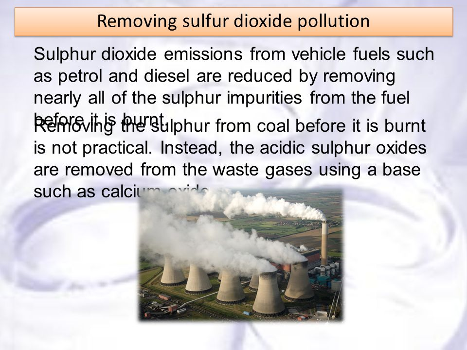 Removing sulfur dioxide pollution