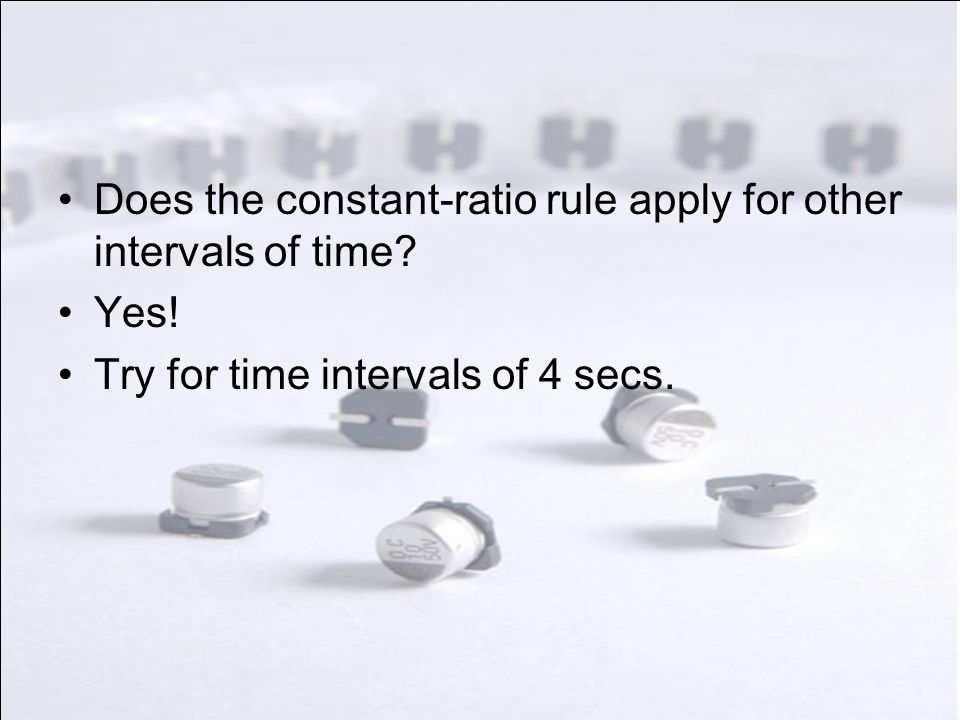 Does the constant-ratio rule apply for other intervals of time