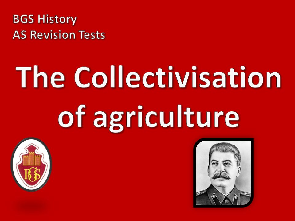 The Collectivisation of agriculture