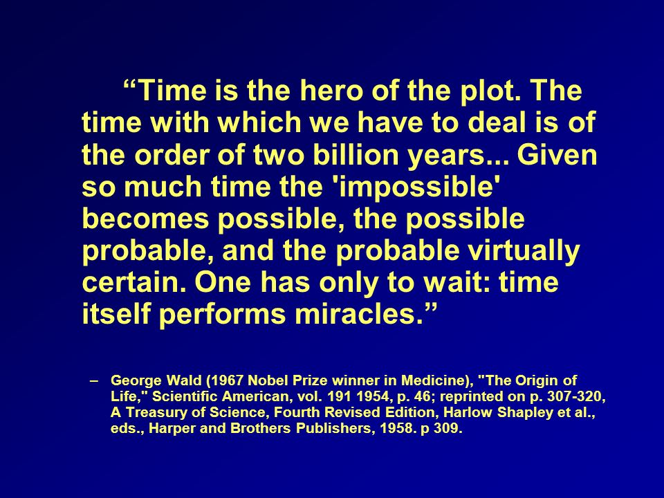 Time is the hero of the plot