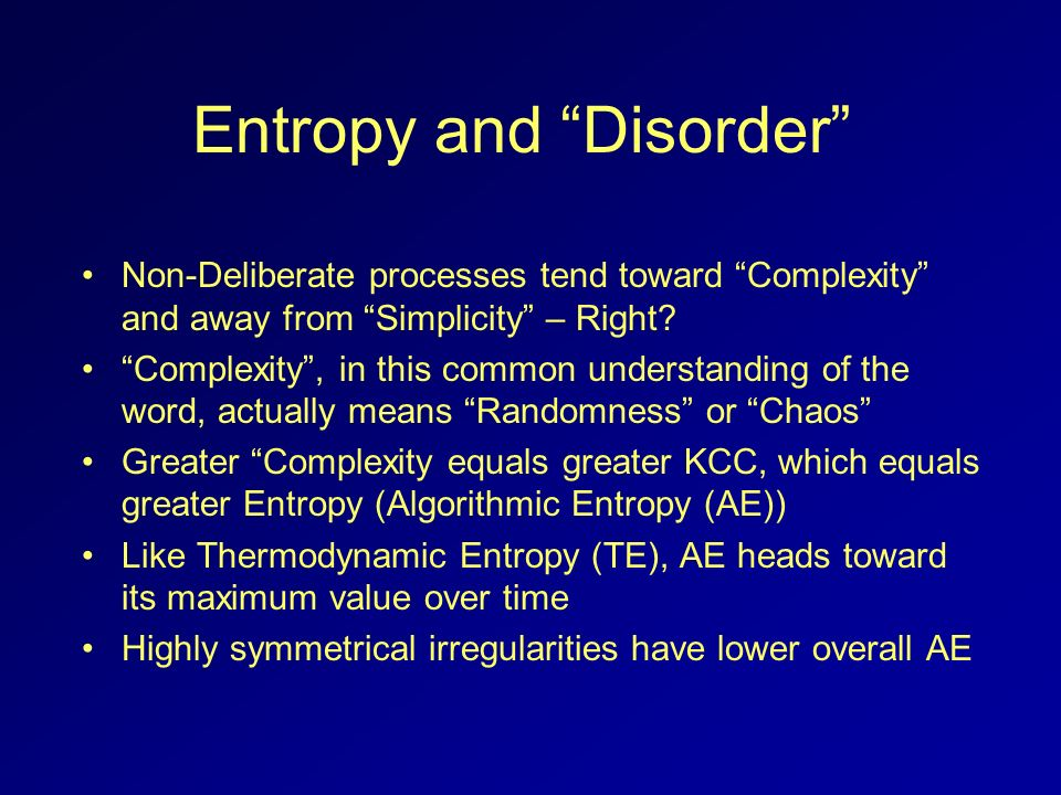Entropy and Disorder