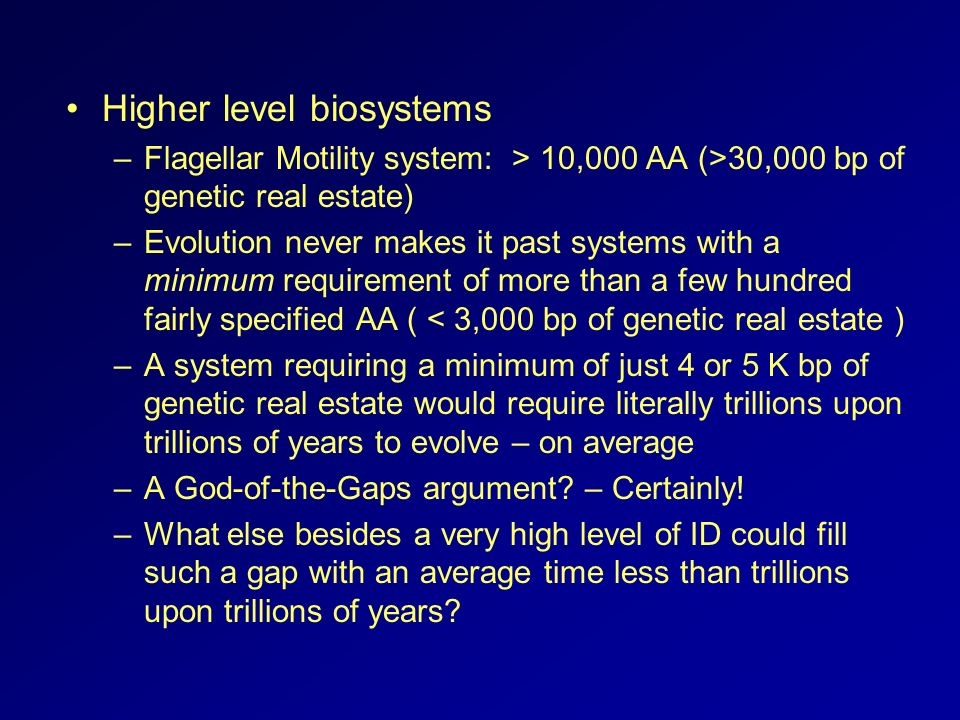 Higher level biosystems