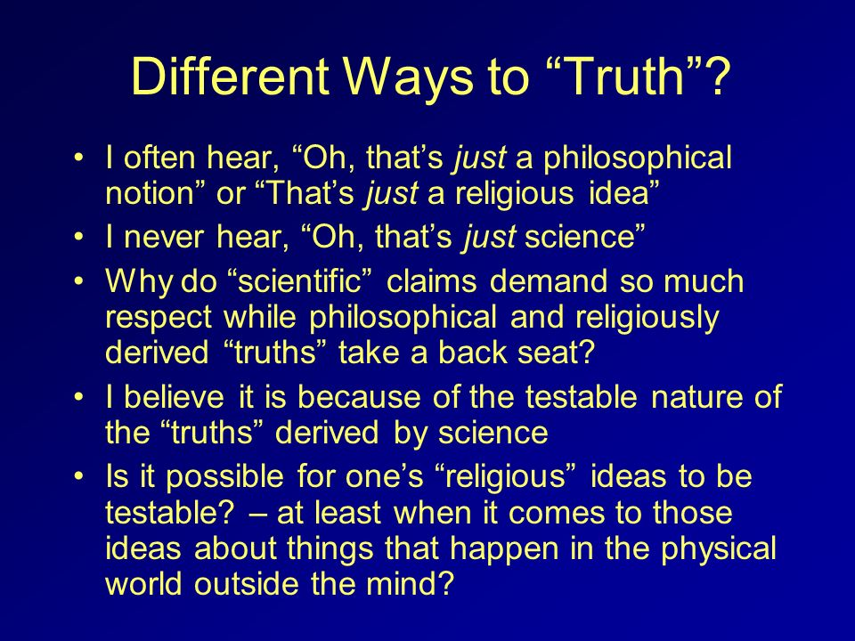 Different Ways to Truth