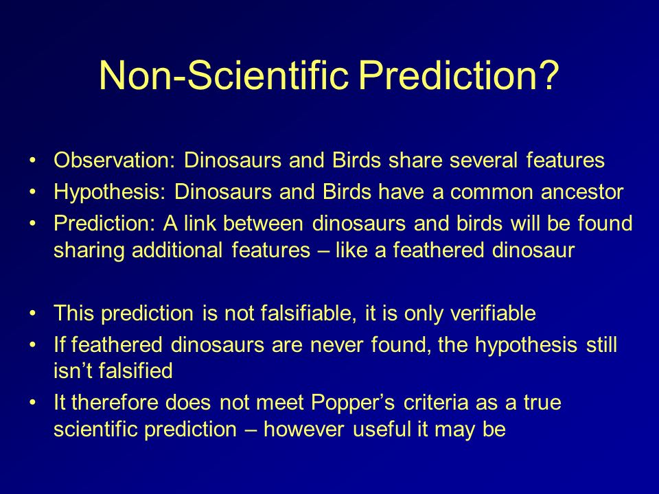 Non-Scientific Prediction