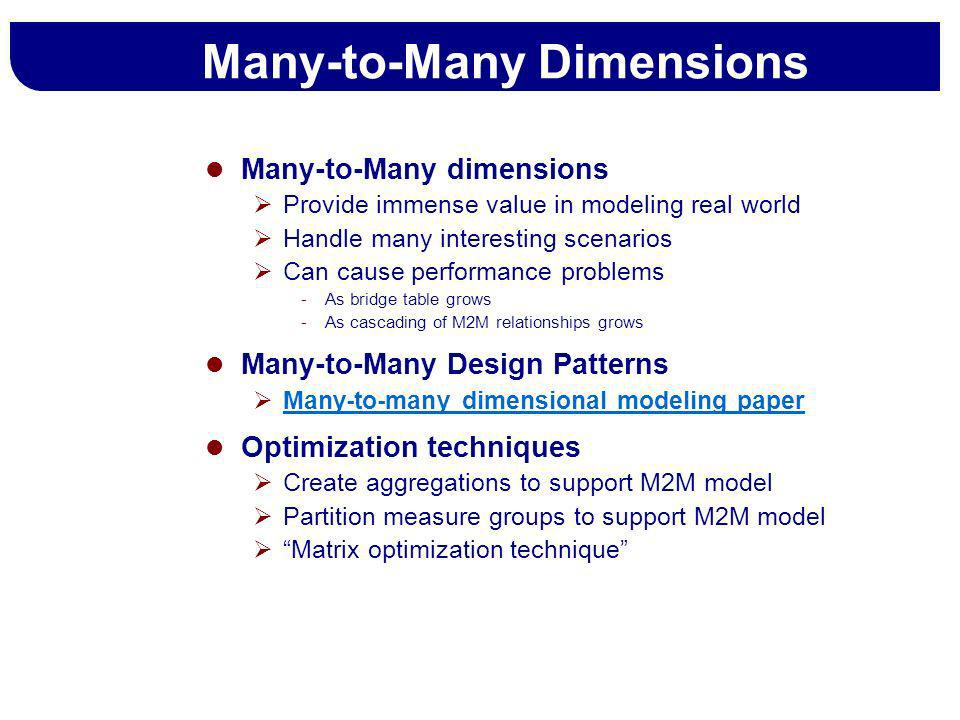Many-to-Many Dimensions
