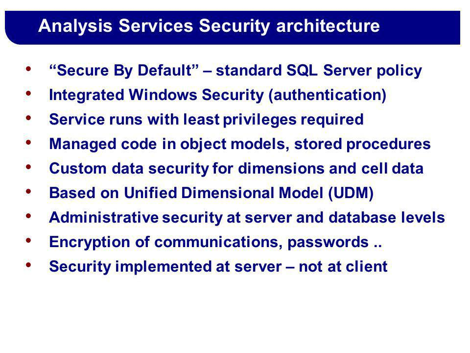 Analysis Services Security architecture