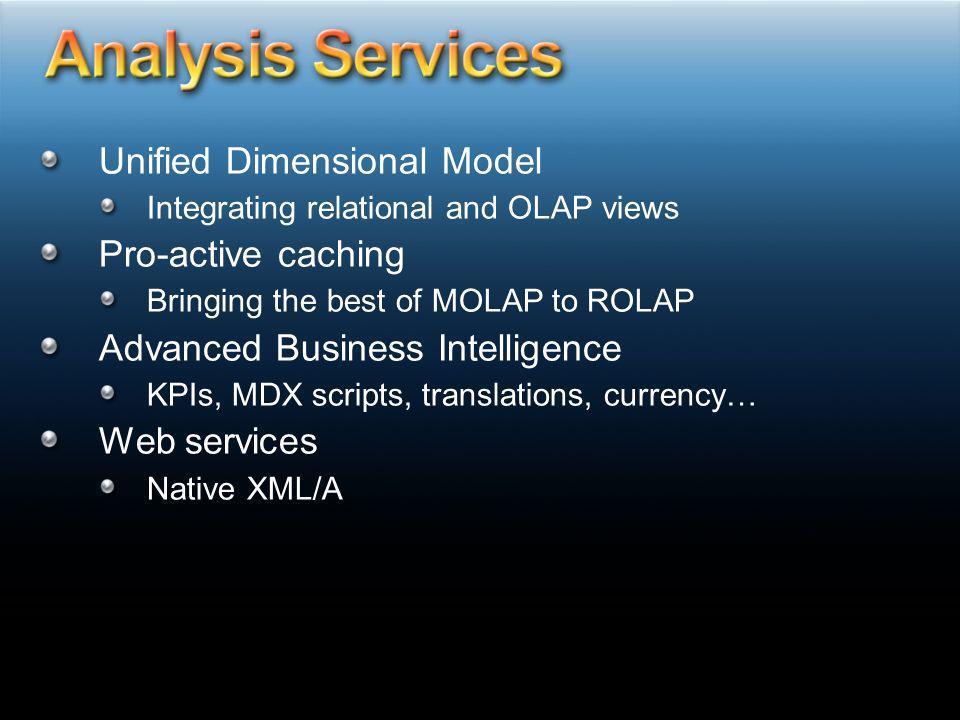 Analysis Services Unified Dimensional Model Pro-active caching
