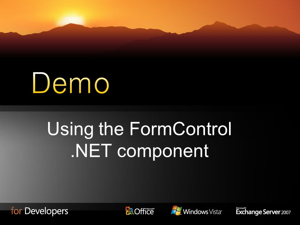 Using the FormControl .NET component