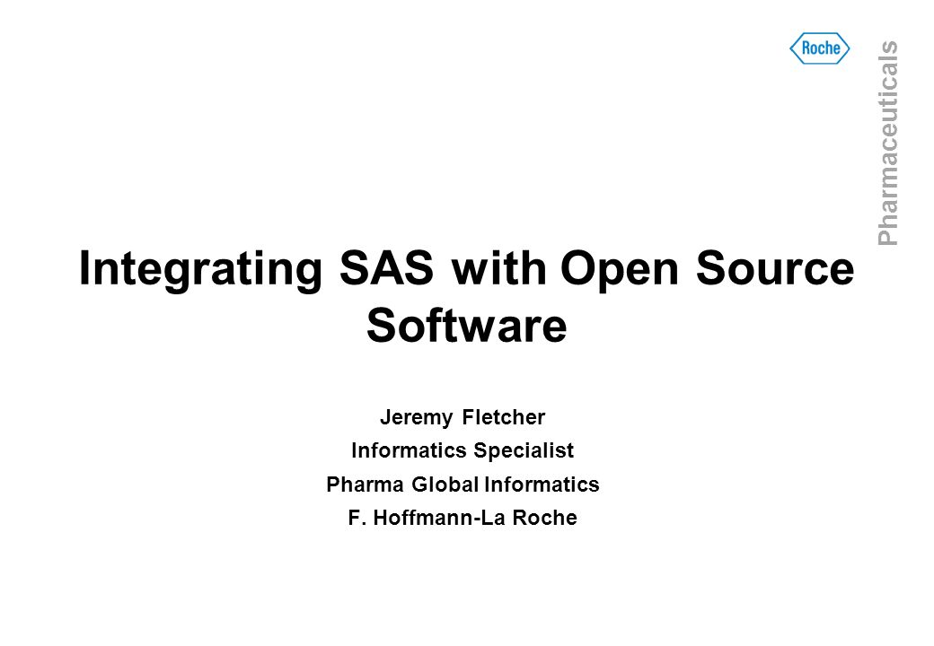 Integrating SAS with Open Source Software