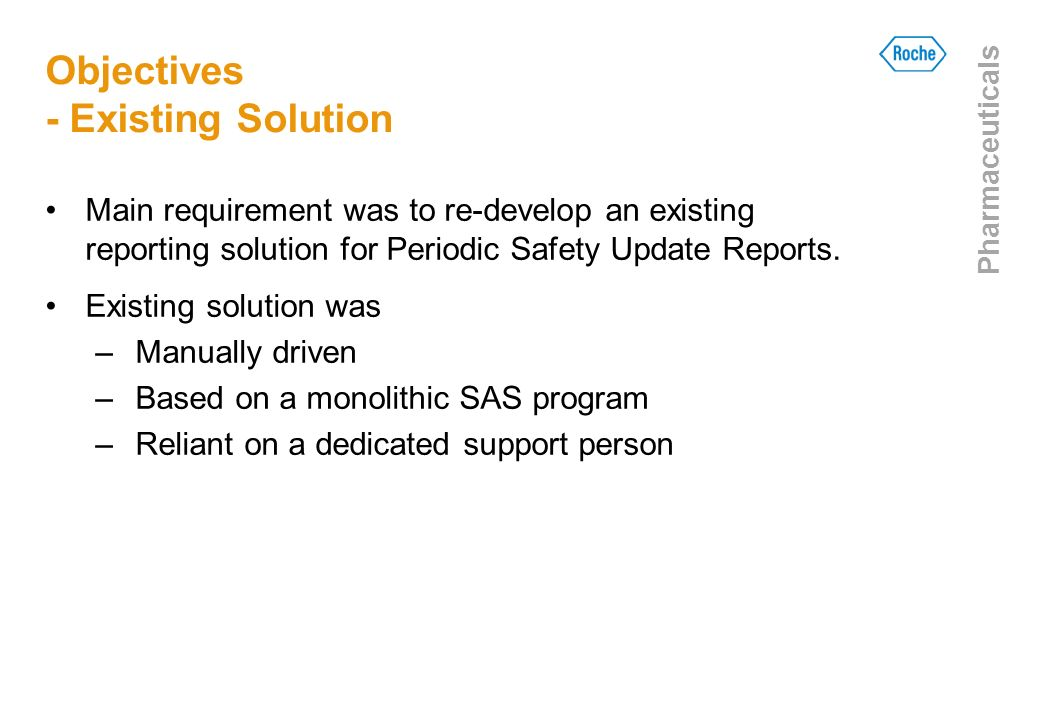 Objectives - Existing Solution