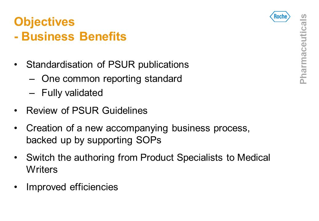 Objectives - Business Benefits