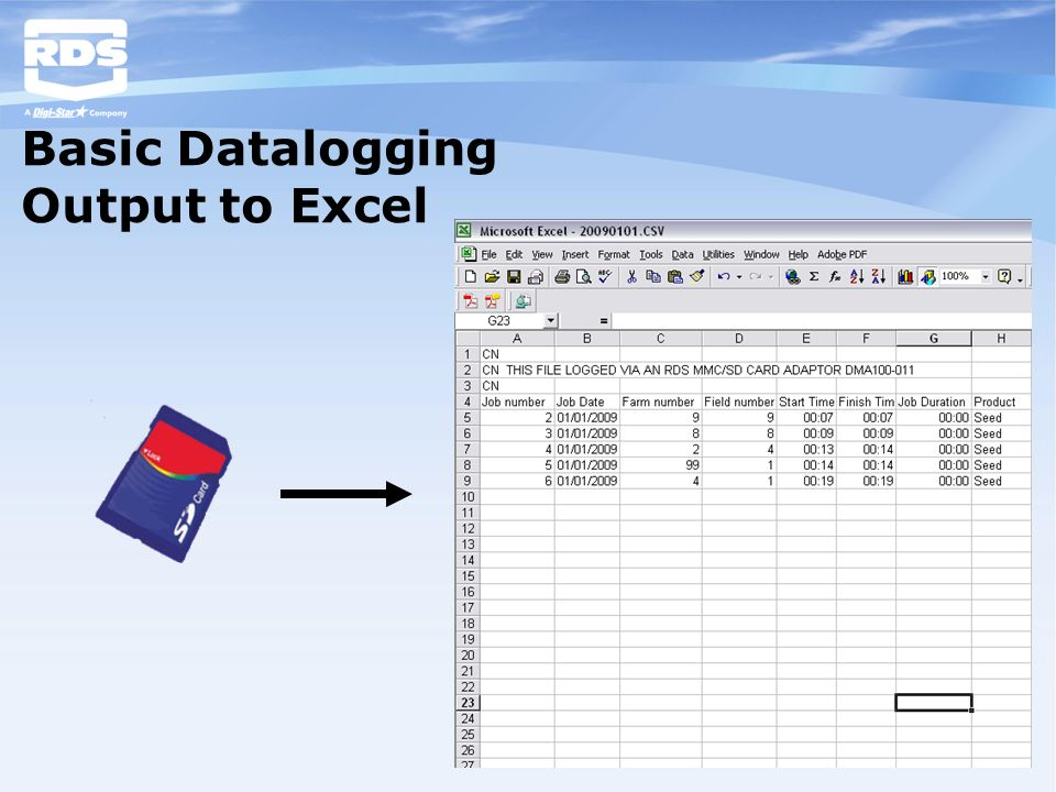 Basic Datalogging Output to Excel