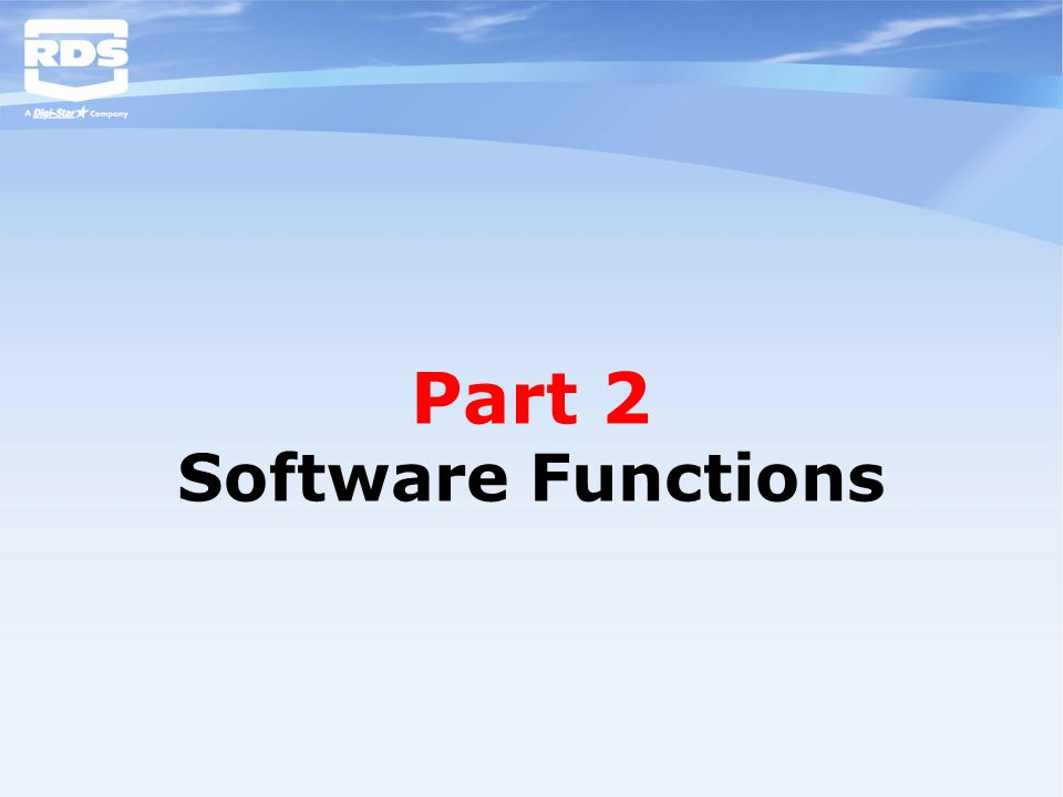 Part 2 Software Functions