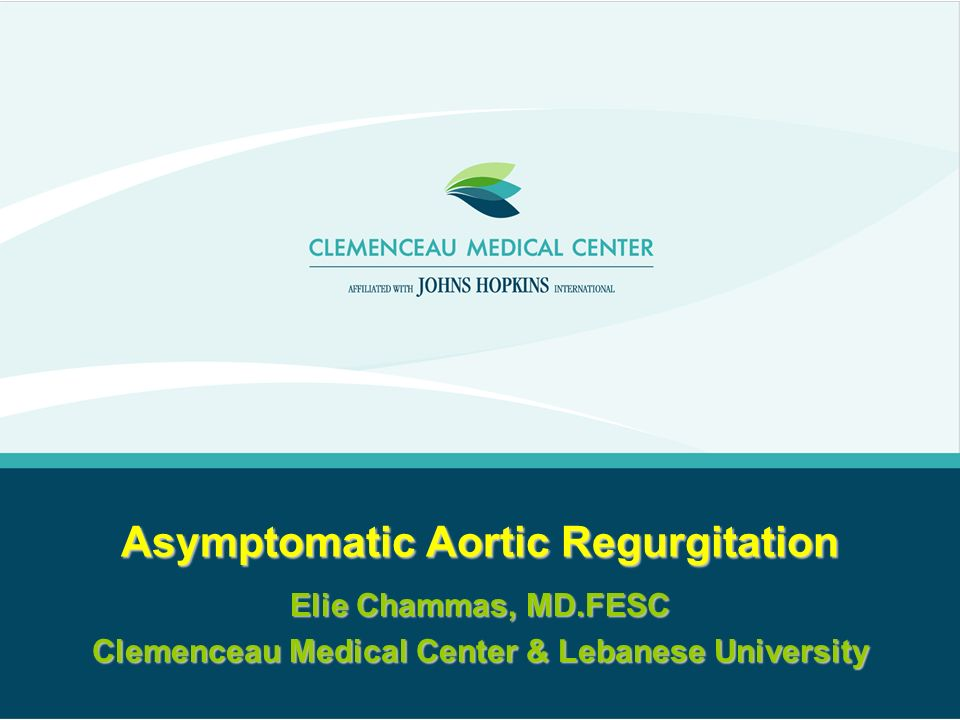 Asymptomatic Aortic Regurgitation