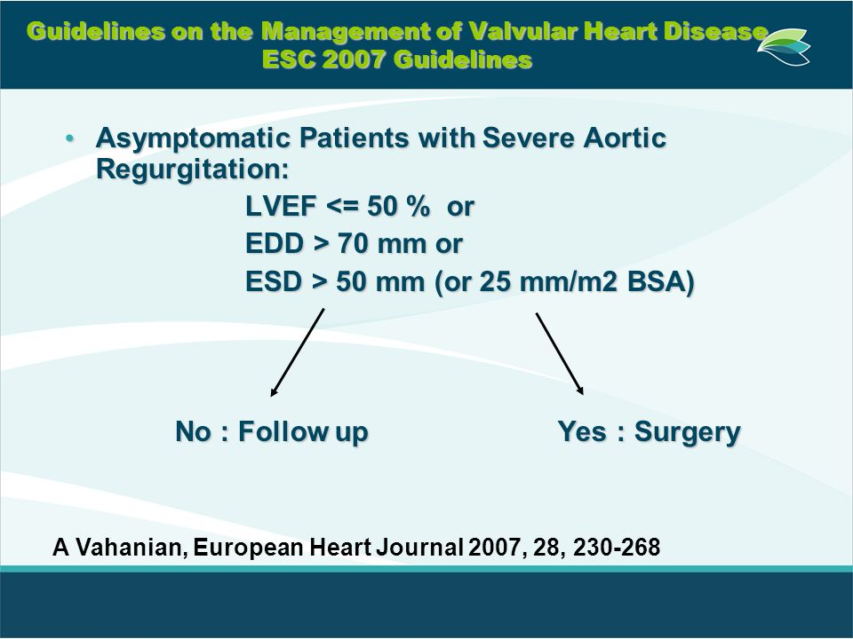 Asymptomatic Patients with Severe Aortic Regurgitation: