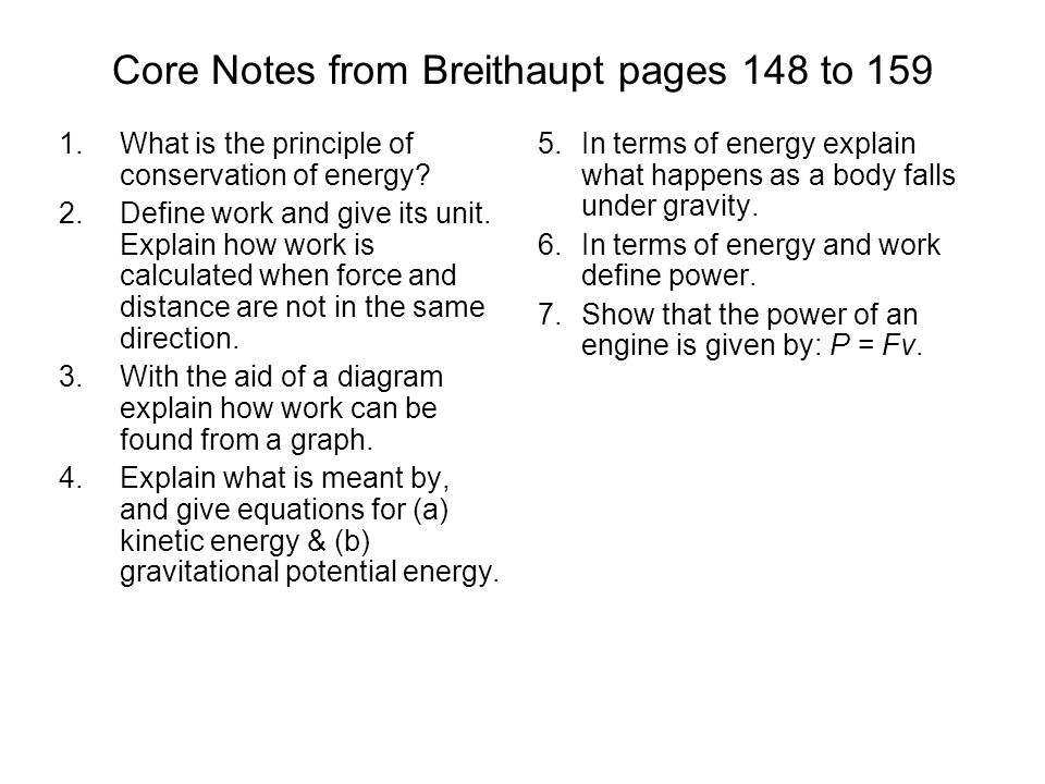 Core Notes from Breithaupt pages 148 to 159
